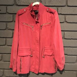 Max Jeans Roan Rogue Moto Utility Jacket Coral L